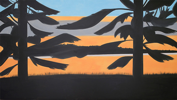 Sunset 4 (2008) by Alex Katz. From Alex Katz