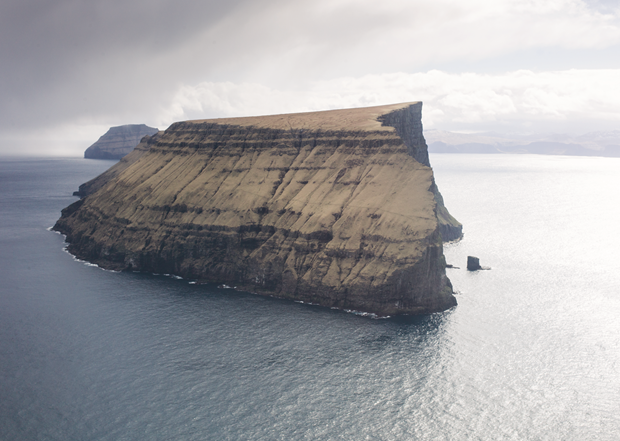 The back view of Stóra Dímun, Faroe Islands, early May 2012. by Magnus Nilsson. From The Nordic Cookbook