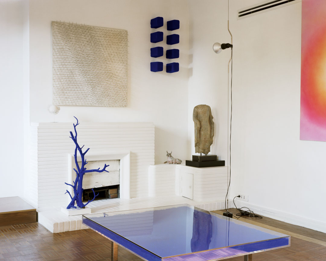 Yves Klein (designer and client), Klein Residence, living room, Paris, France, completed 1949. François Coquerel © Succession Yves Klein c/o DACS 2019