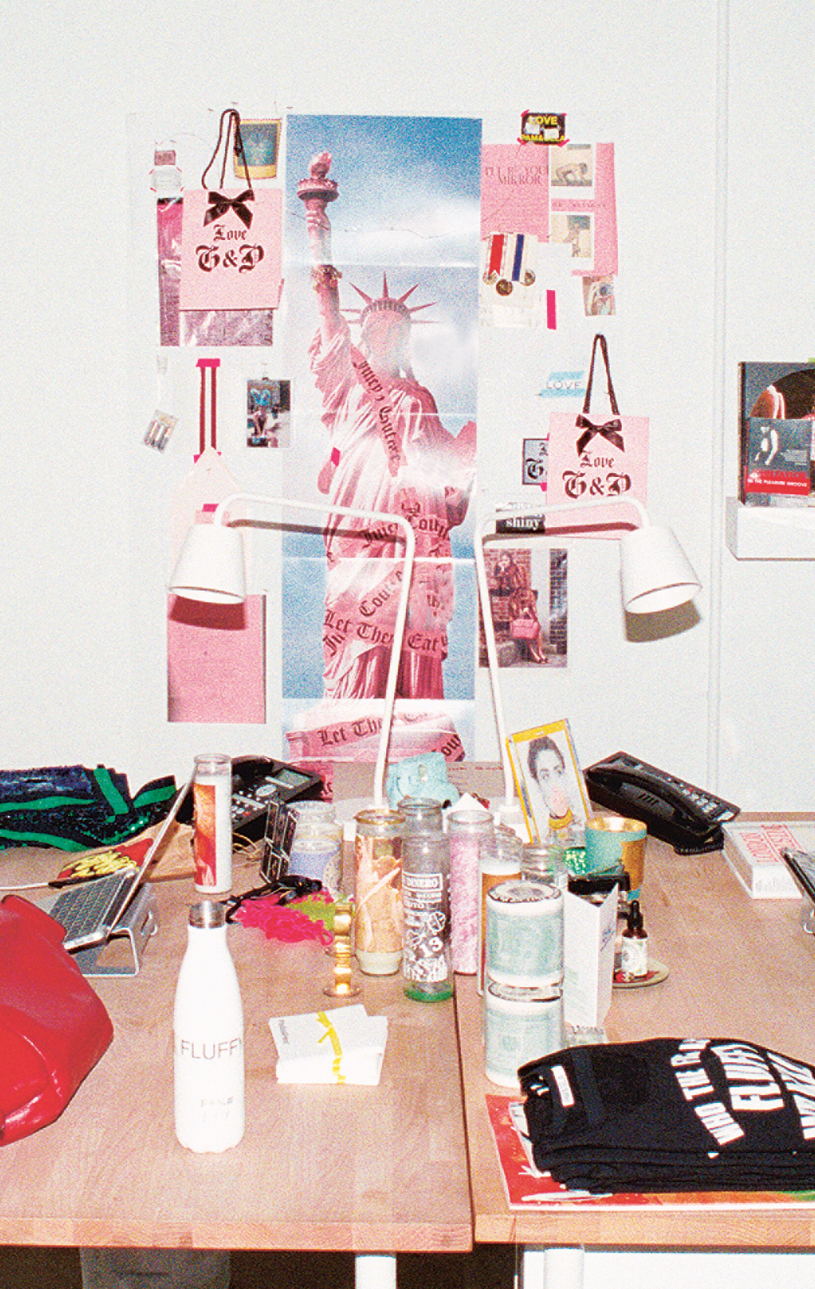 Inside Pam and Gela's colorful studio. Photograph by Cameron McCool. From Fashion in LA