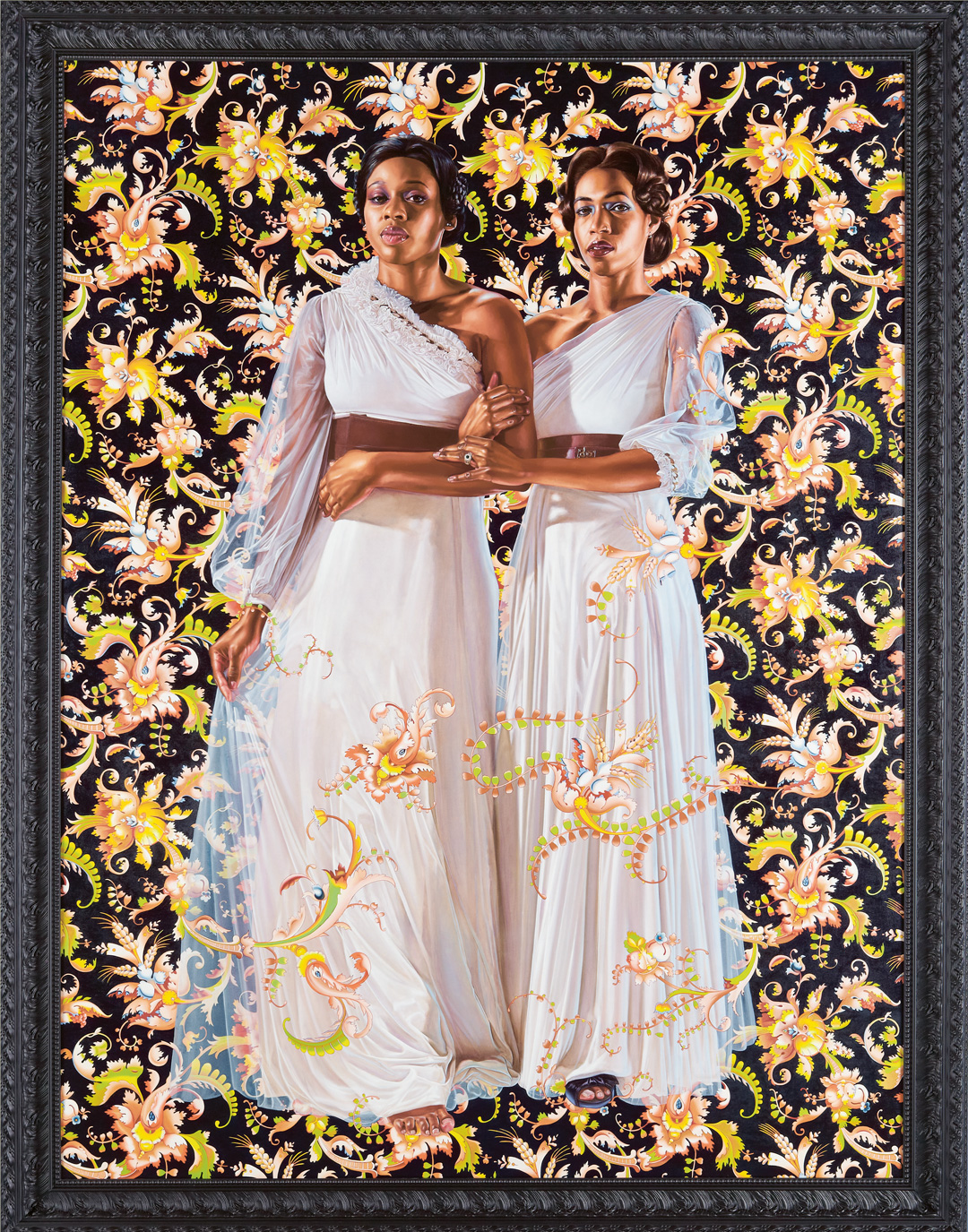 Two Sisters (2012) by Kehinde Wiley, as featured in The Artist Project