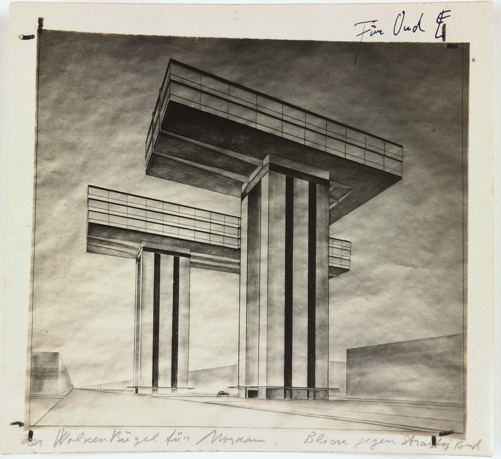 El Lissitzky photo by the artist of his design GC Y Cloud Iron Ground Plan