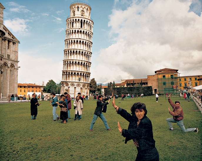 Martin Parr, Pisa, Italy from the series Small World (1987-1994)