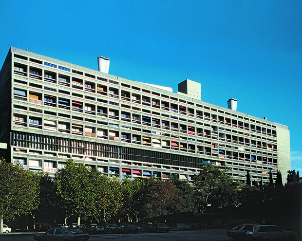 Le Corbusier and ATBAT, Unité d'Habitation, Marseille, France, 1947–53