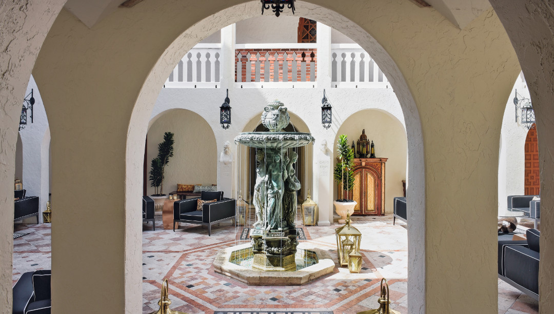 The Villa Casa Casuarina at the former Versace Mansion, Miami Beach, Florida, USA. Open to the public. Fashion designer. Photo by Ken Hayden, Courtesy of The Villa Casa Casuarina/Victor Hotels