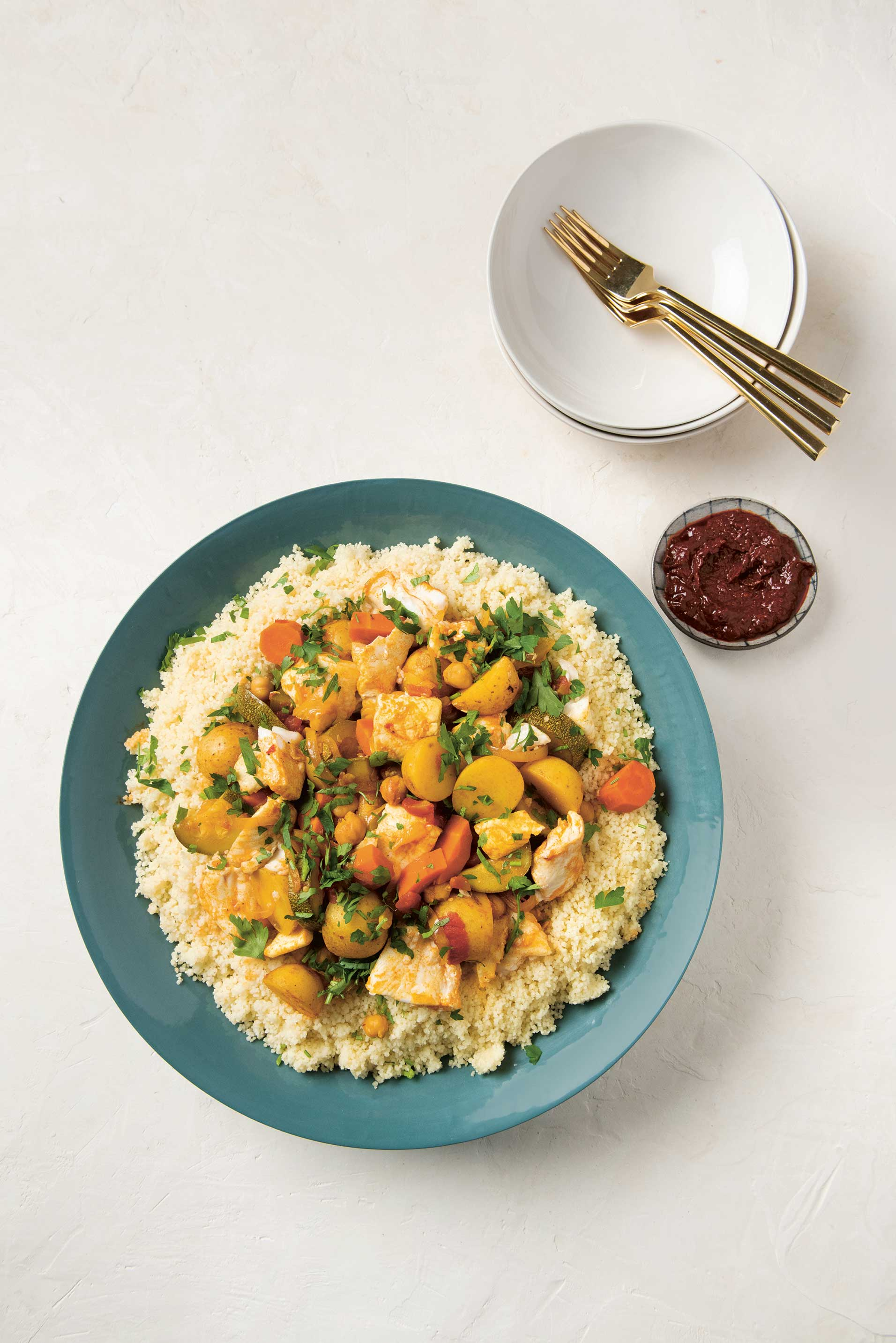 Fish Tagine Couscous from The Jewish Cookbook