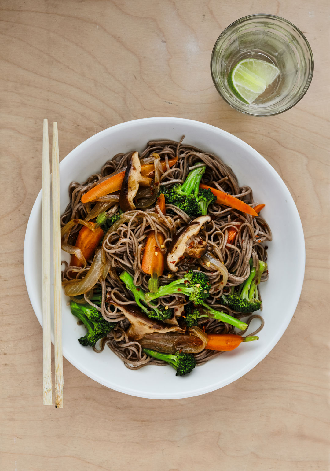 Five Spice Stir Fried Soba Noodles - from Vegan: The Cookbook