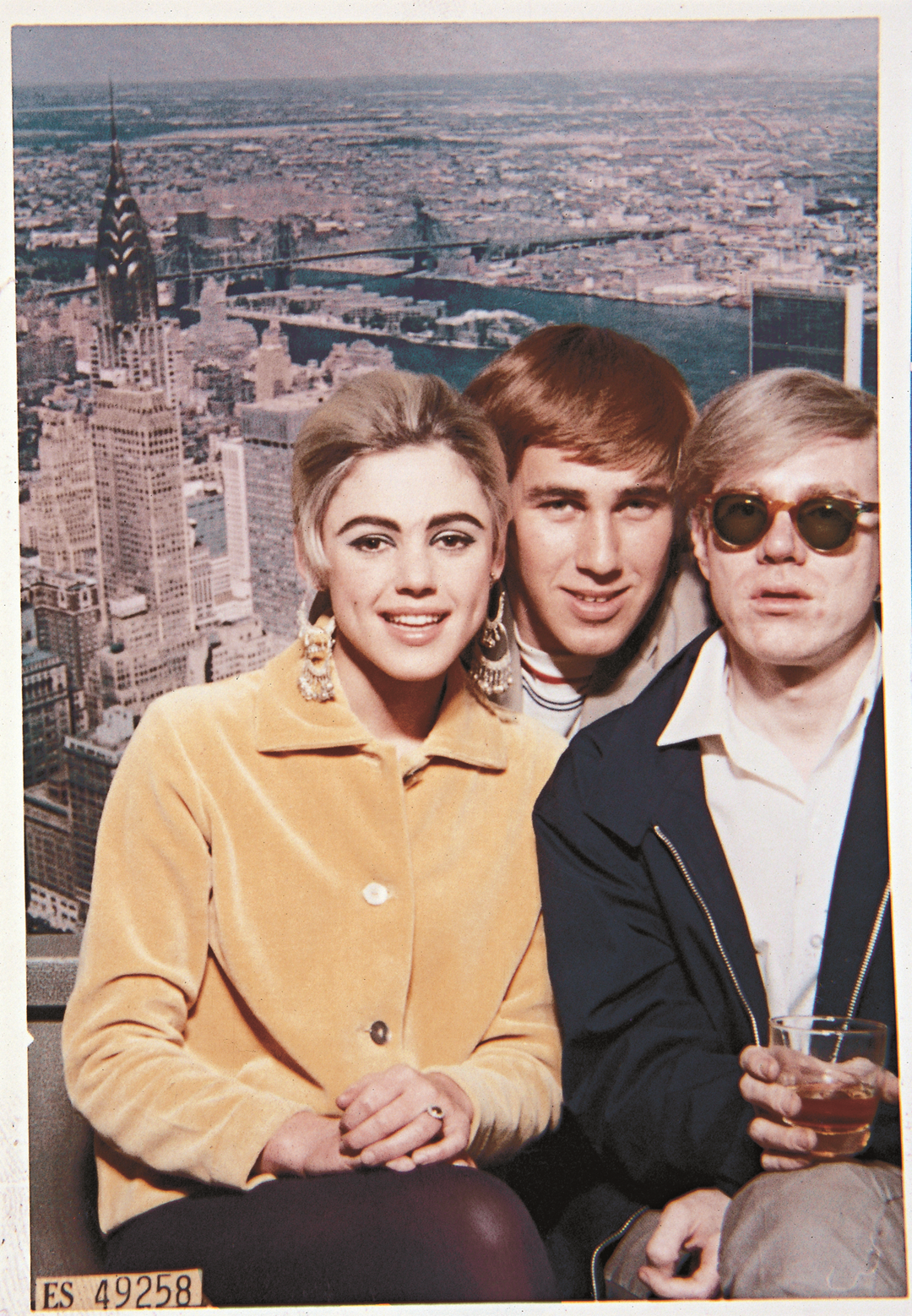 Warhol with Edie Sedgwick and Chuck Wein, 1965
