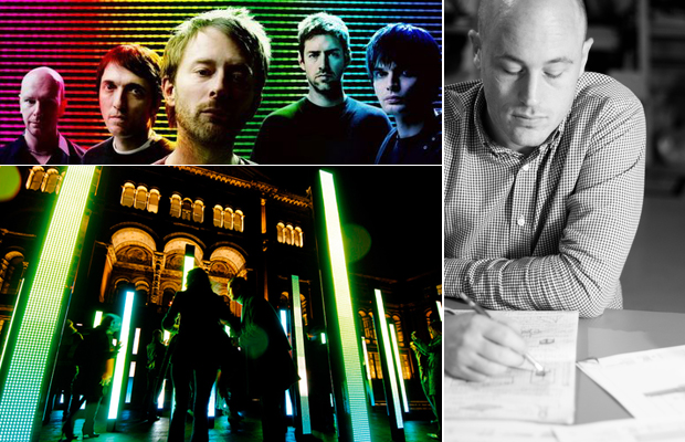 Radiohead appear on this week's Muse Music playlist (top left), Matt Clark from UVA talks about the songs that inspire the practice (right) and UVA's responsive light and sound sculpture 'Volume' (2007) (bottom left)