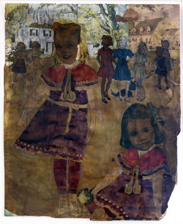 Untitled, n.d. by Henry Darger, courtesy of  Andrew Edlin Gallery