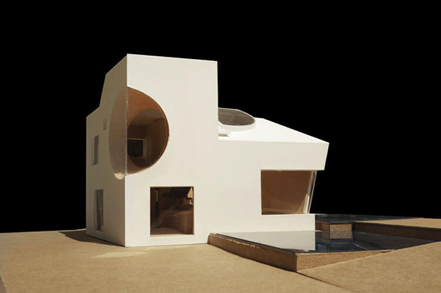 Steven Holl Architects' model for the Ex of In house - image courtesy of Steven Holl Architects