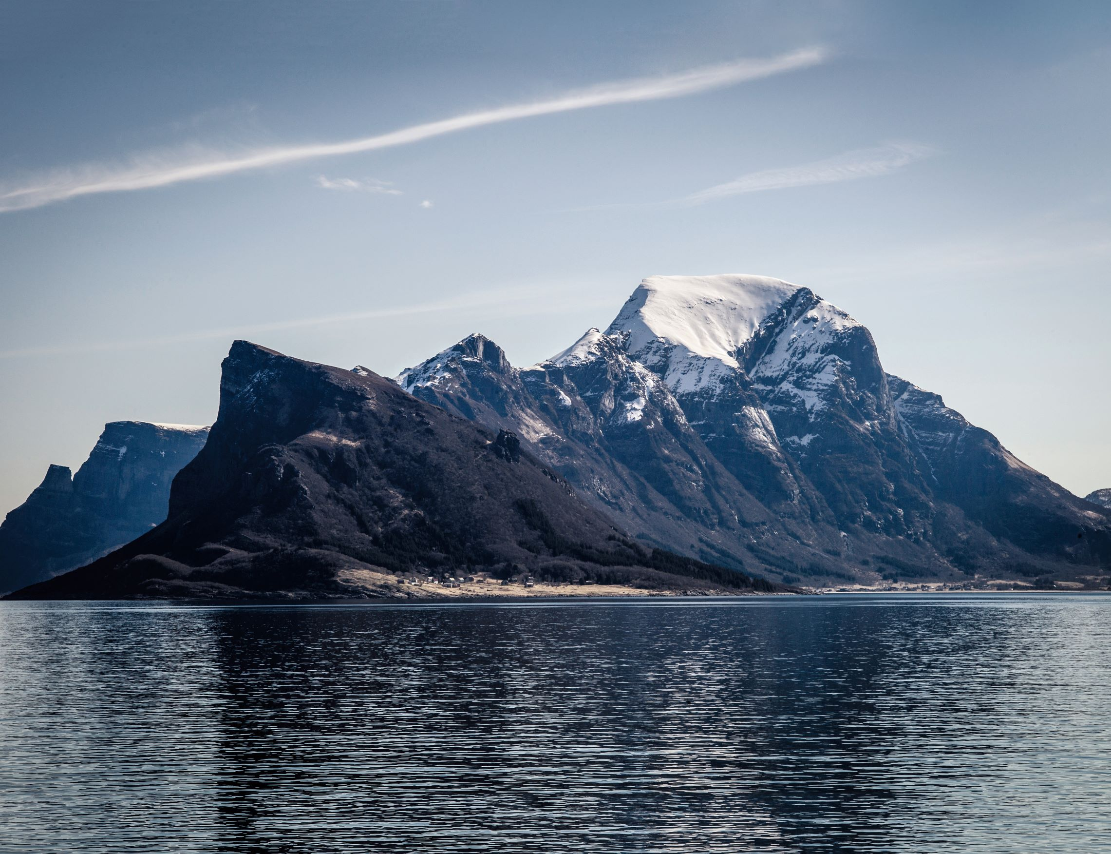 View from the Hurtigruten ferry boat, northern Norway, spring 2013. Photography by Magnus Nilsson