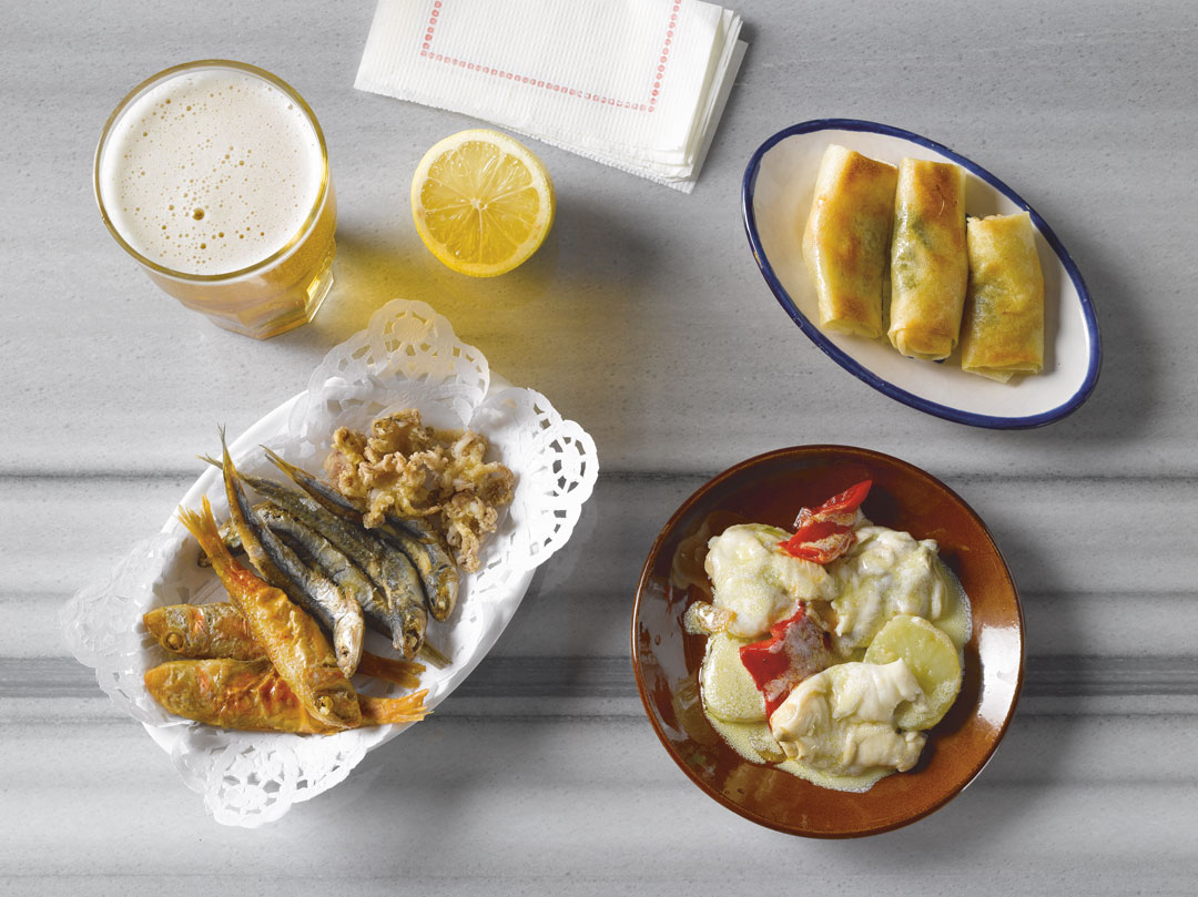 A selection of fish tapas from The Book of Tapas