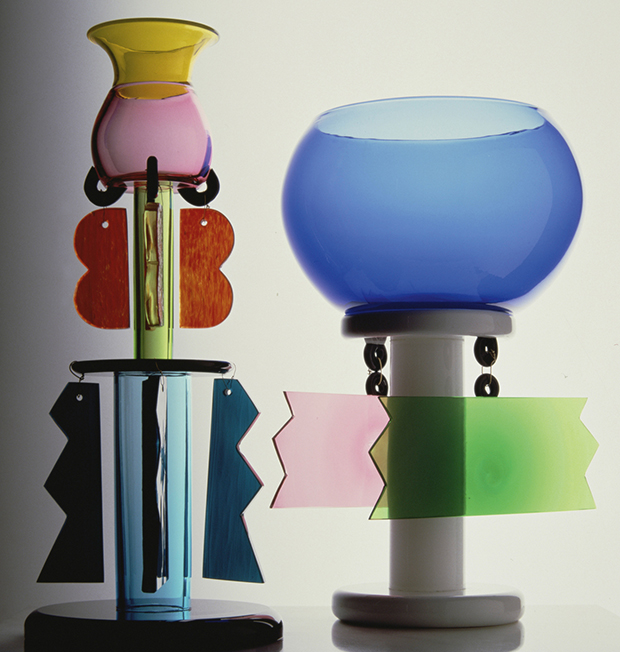 Glass pieces, 1982 by Ettore Sottsass. From our book Sottsass