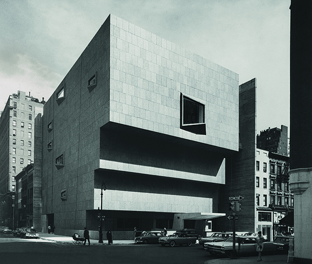 Whitney Museum of American Art, New York, New York, 1963–6; view from corner. From our new Breuer monograph