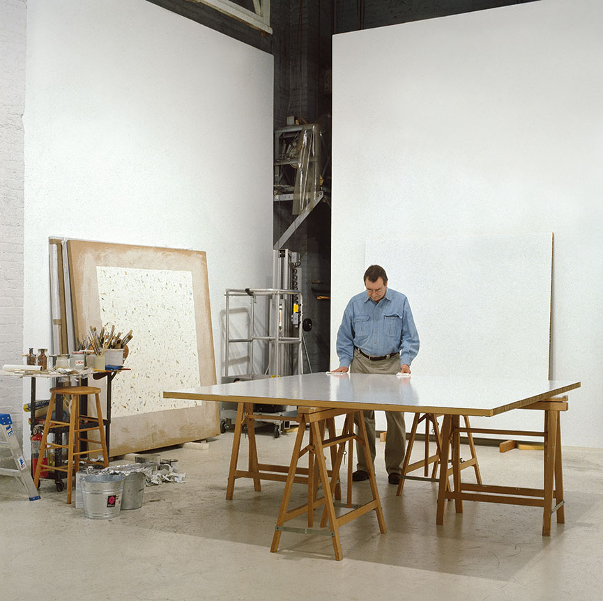 Robert Ryman in his studio, New York, 1999. Photograph by Bill Jacobson