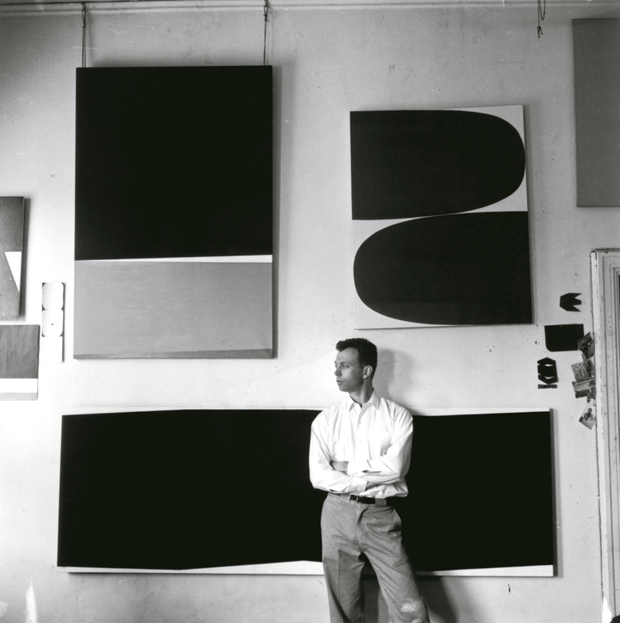 Ellsworth Kelly, Broad Street studio, New York, 1956. Photo credit: © Onni Saari. From Ellsworth Kelly