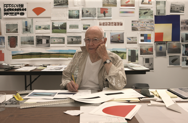 Ellsworth Kelly, Spencertown, NY, 2012. Photo credit: © Jack Shear. From Ellsworth Kelly