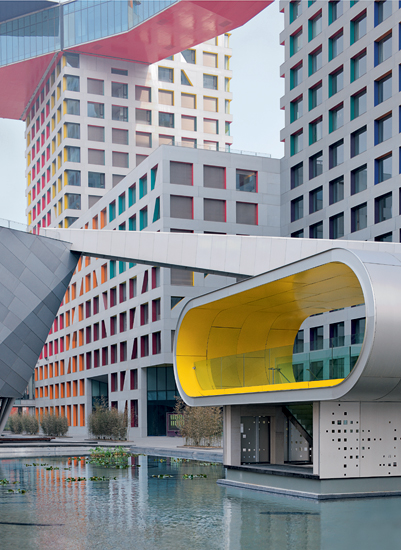 Steven Holl Architects, Linked Hybrid (2009), Beijing
