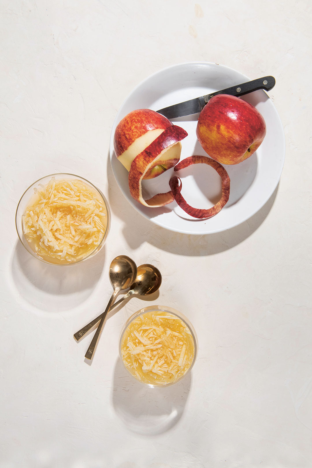 Chilled Apples with Rose Water