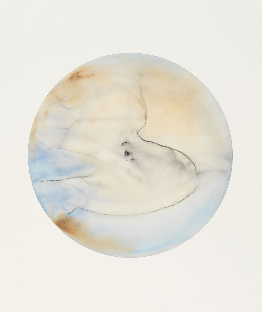 Glacial landscape no. 8, 2018, watercolour and pencil on paper, 151 x 151 x 8 cm (59 ½ x 59 ½ x 3 1?8 in). Picture credit: Jens Ziehe