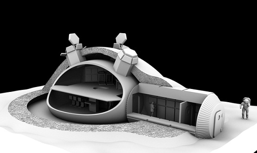 Foster + Partners' feasibility study for a lunar base for the European Space Agency