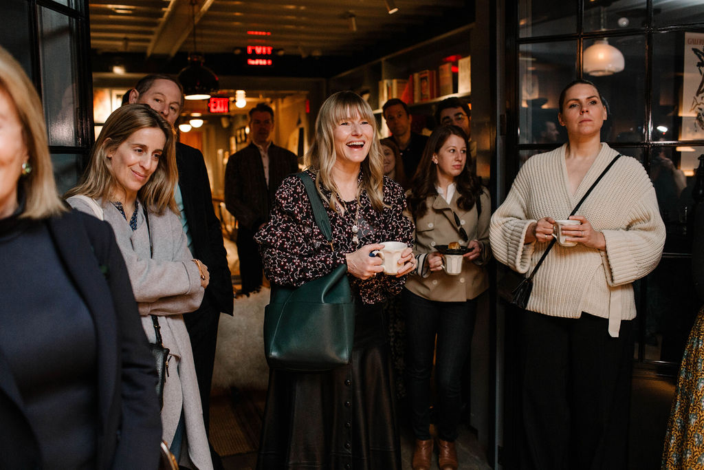 Amy Astley, Editor in Chief, Architectural Digest (centre) at the launch for Interiors: The Greatest Rooms of the Century at Roman and Williams Guild New York