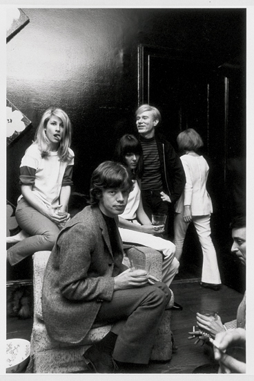 With Edie Sedgwick, Gerard Malanga, and Baby Jane Holzer, as well as Mick Jagger (1964-65)