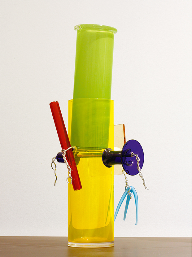 glass piece for Ernest Mourmans, 2006, by Ettore Sottsass. From our book Sottsass