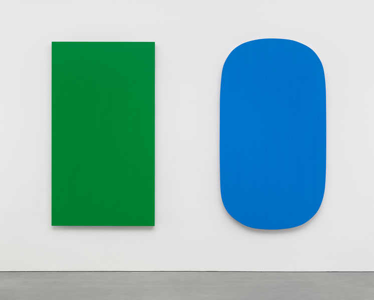 Diptych: Green Blue (2015) by Ellsworth Kelly. Image courtesy of Matthew Marks