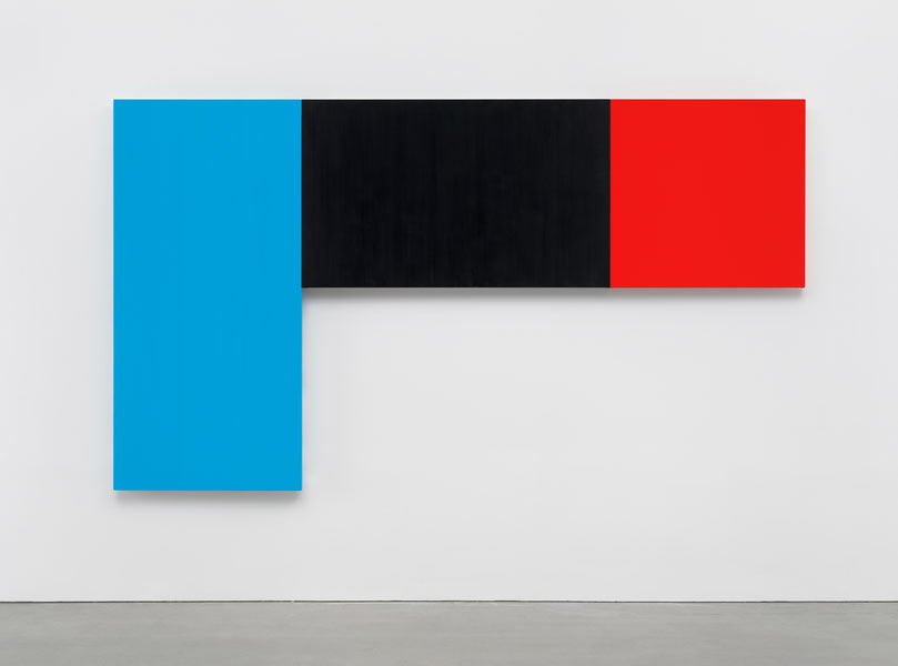 Blue Black Red (2015) by Ellsworth Kelly. Image courtesy of Matthew Marks