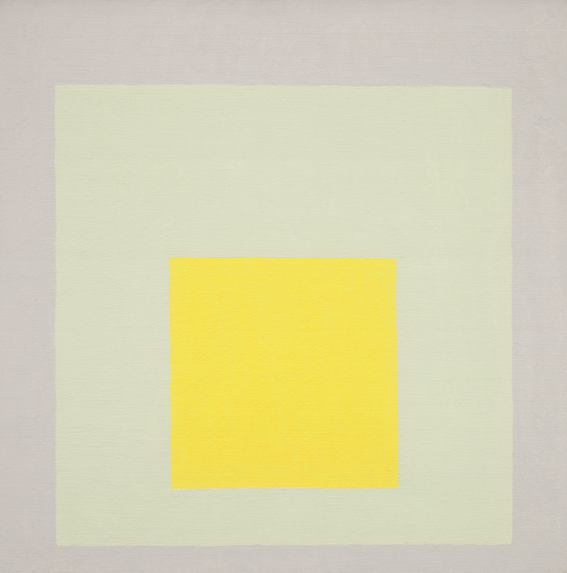 Study for Homage to the Square: Impact, 1965. Oil on Masonite, by Josef Albers