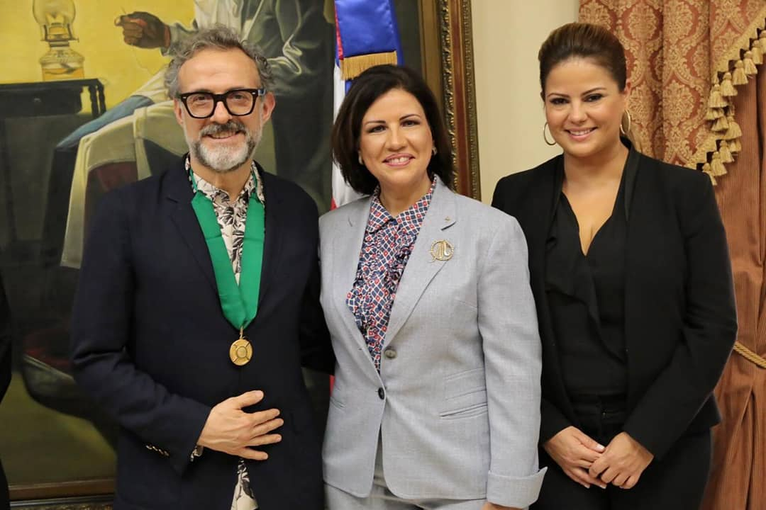 Massimo with the Dominican Republic's Vice President Margarita Cedeño de Fernández and Evelyn Betancourt Holt-Seeland, founder of the Santo Domingo Times