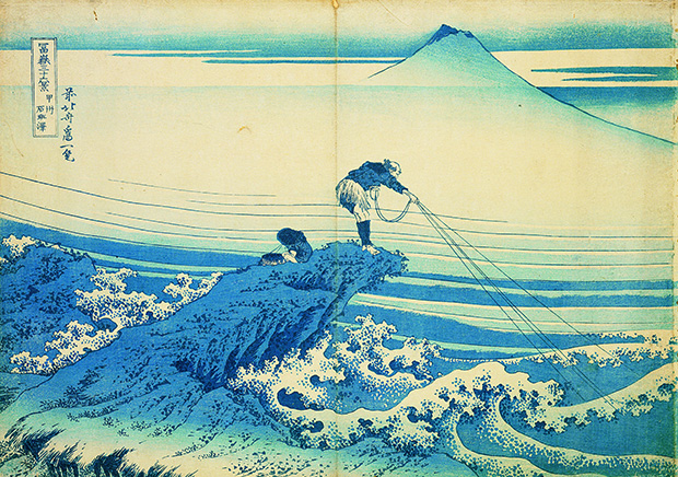 Kajikazawa in Kai Province, from Thirty-six Views of Mount Fuji, Katsushika Hokusai, Japan, c. 1830. From 30,000 Years of Art