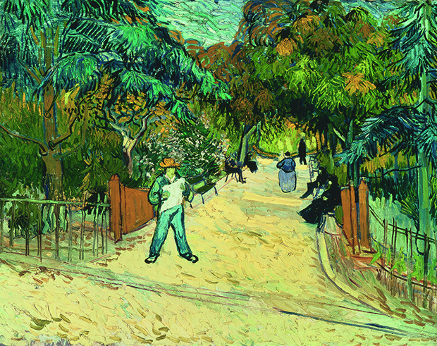 Entrance to the Public Gardens in Arles (1888) by Vincent Van Gogh, as reproduced in our newly updated monograph
