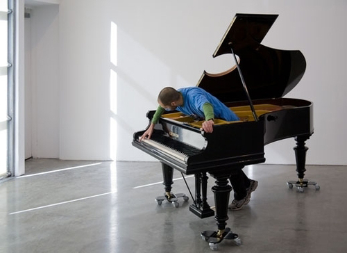 Allora & Calzadilla - Stop, Repair, Prepare: Variations on Ode to Joy, No. 1. 2008 Modified Bechstein piano, courtesy of the artists and Gladstone Gallery, NY. Photo by David Regen