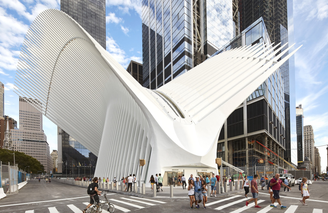 The World Trade Center Transportation Hub, New York, as featured in Destination Architecture