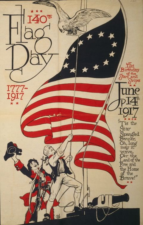 American Flag Day poster, 1917  courtesy Wiki Commons