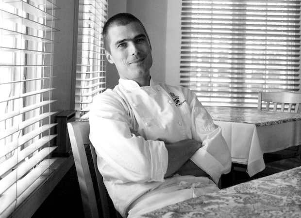 American chef Hugh Acheson at his Athens restaurant, Five & Ten. Selected by Mario Batali for Coco, Acheson's inclusion in the book 'was an encouragement not to change'.