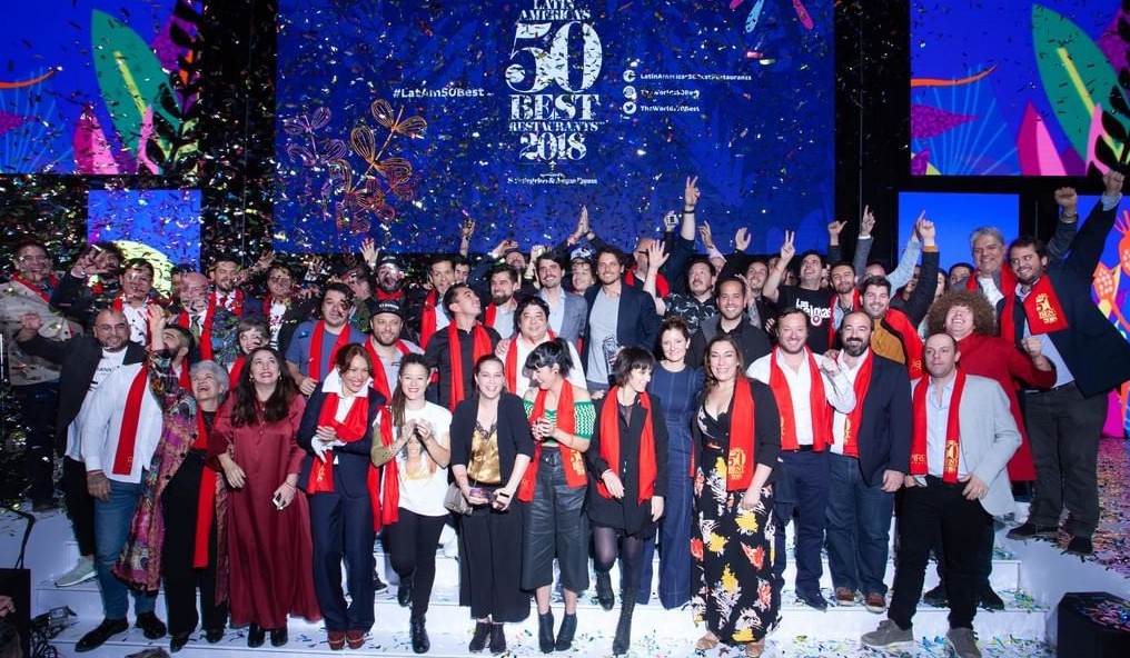 Winning chefs at at Latin America's 50 Best Restaurants list in Bogota earlier this week
