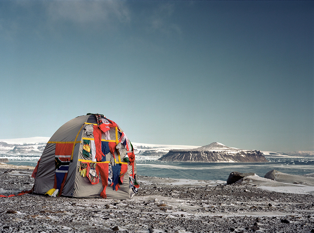 Antarctic Village - No Borders, 2007, by Lucy + Jorge Orta
