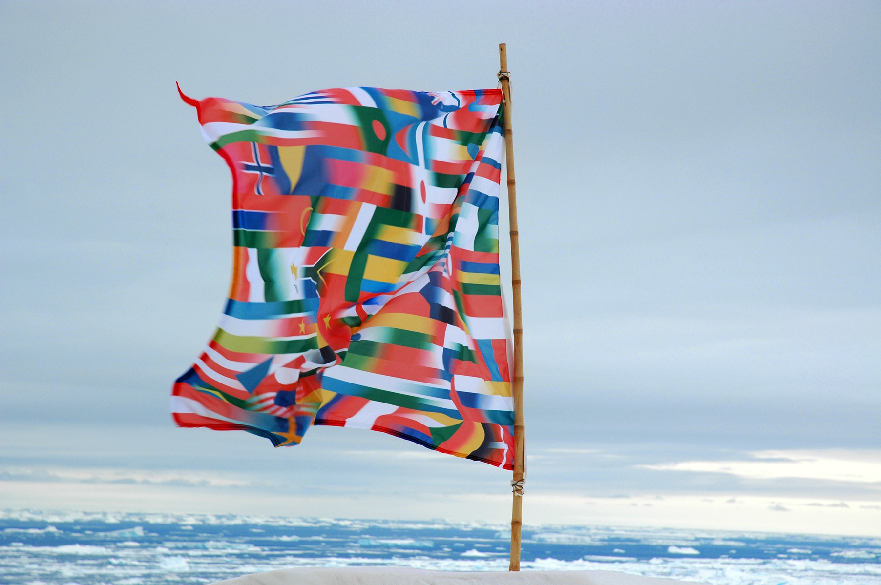 Antarctica Flag, (2007) by Lucy + Jorge Orta. All images courtesy of the artists