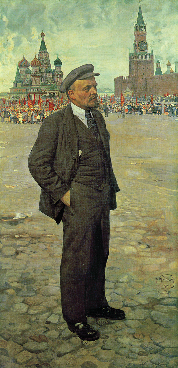 Lenin in Red Square by Isaak Brodsky, Russia, 1924. From 30,000 Years of Art