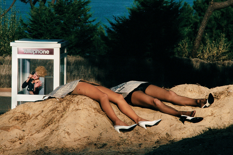 A 1982-83 campaign image for Roland Pierre by Guy Bourdin. As featured in our Guy Bourdin book