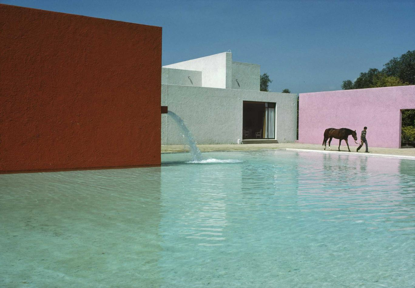 San Cristobal Stables, Mexico City by Luis Barragán. Photograph by René Burri