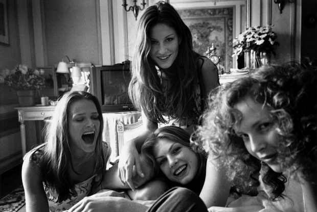 Carmer, Angela, Zora and Gisele Bündchen by Mario Testino. As reproduced in Any Objections?