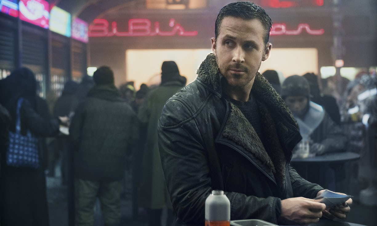 Ryan Gosling chows down on some tasty protein in Blade Runner 2049