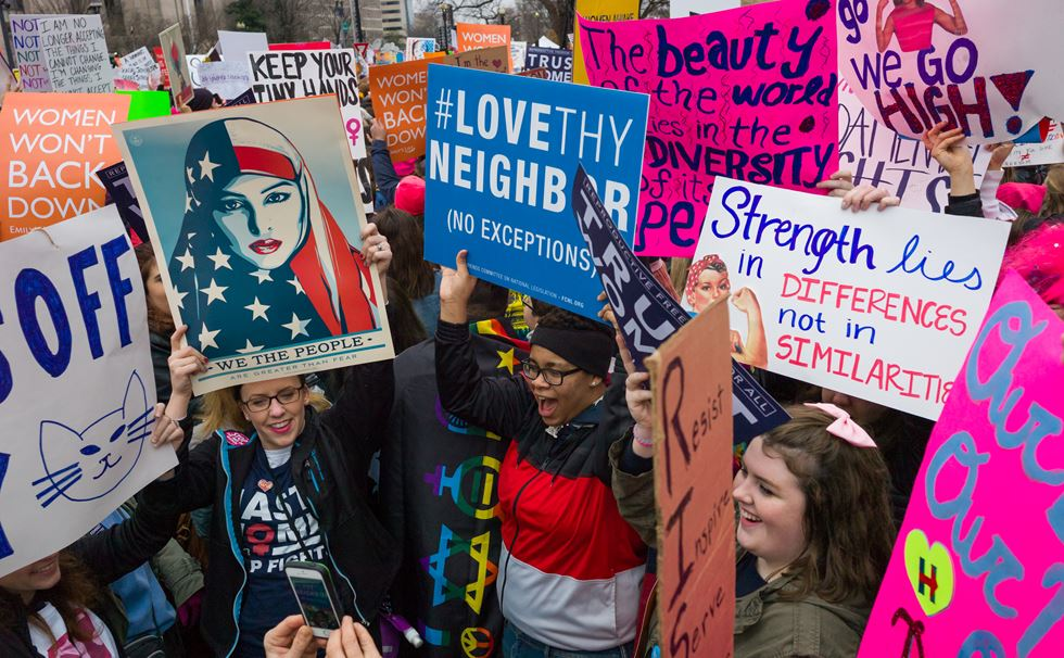 Women's March, Washington DC, January 2017. Image credit: Chris Wiliams Zoeica. Image courtesy of the Design Museum