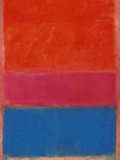 Mark Rothko's 1954 painting No.1 (Royal Red and Blue) sold for $75,122,500