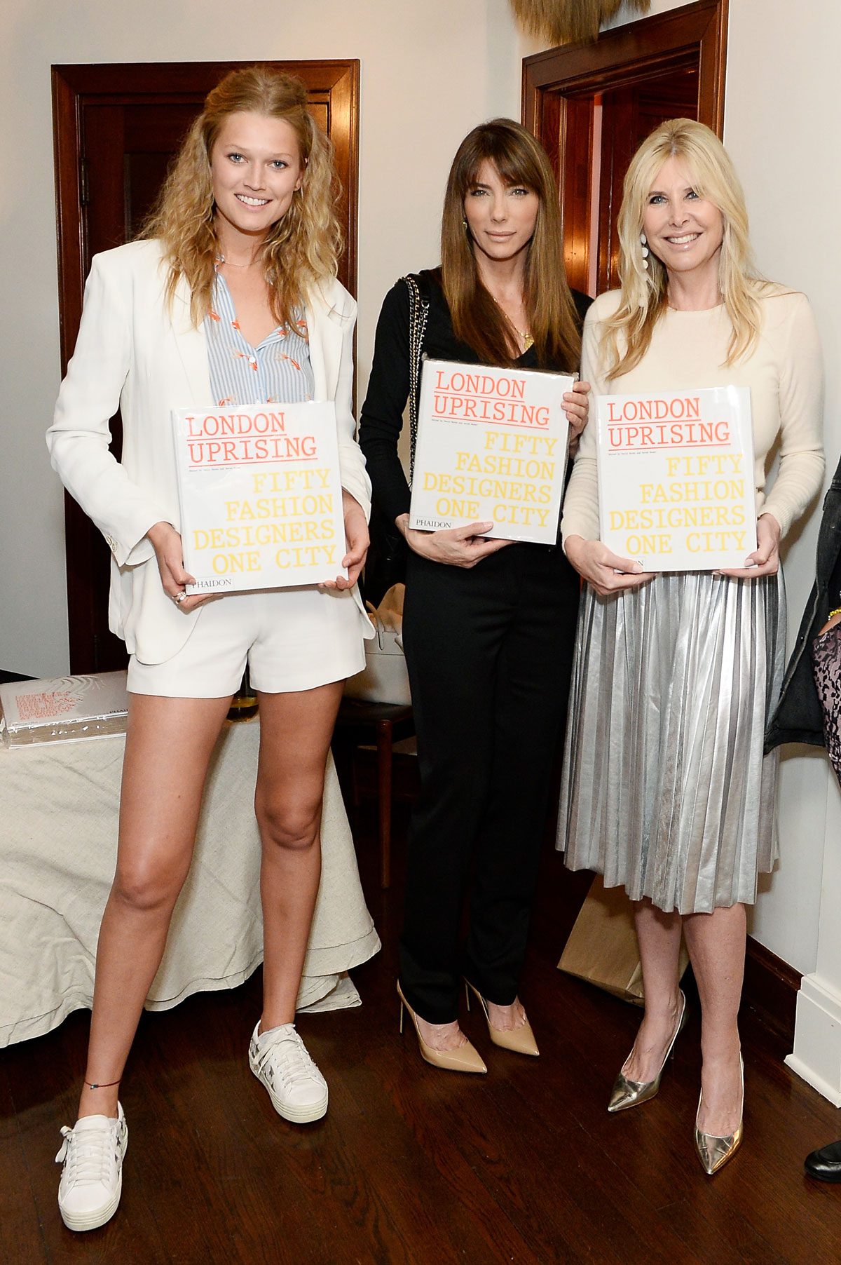 Toni Garrn; Jennifer Stallone and Irena Medavoy celebrate the launch of London Uprising Fifty Fashion Designers One City on April 18, 2017 in Los Angeles, California. (Photo by Stefanie Keenan/Getty Images for Tania Fares)